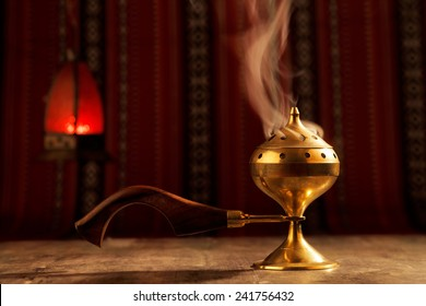 Bukhoor is usually burned in a mabkhara, a traditional incense burner It is customary in many Arab countries to pass bukhoor amongst the guests in the majlis