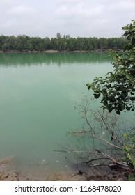 Bukit Jugra, Banting, Malaysia. 12 November 2014. A green lake suitable for fishing near Bukit Jugra.