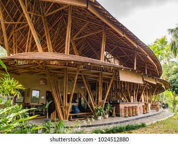 Bukit Lawang, Indonesia - February 11 2018: Situation in Kapal Bambu Restaurant at noon. They open until 9 pm everyday