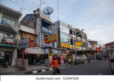 BUKITTINGGI, INDONESIA, AUGUST 6, 2016: Bukittinggi street view at West Sumatra, Indonesia on August, 2016