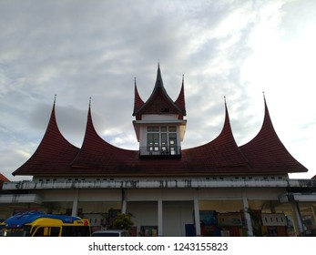 Bukittinggi, Indonesia - January 22nd 2018: Representative of Minang sense in real building architecture
