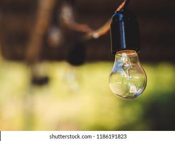 bulb with a beautiful bokeh