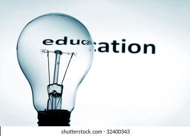 bulb in blue background showing concept for education and science