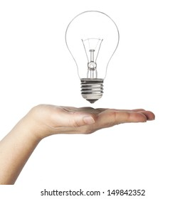 Bulb with hand