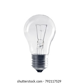 bulb. incandescent light on isolated white background