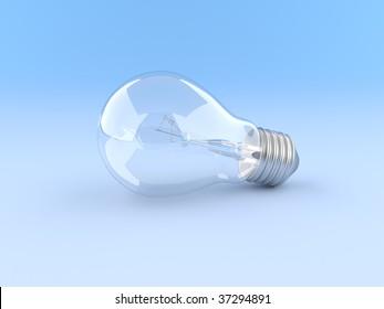 Bulb on a dark blue background