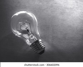 bulb on texture gray background