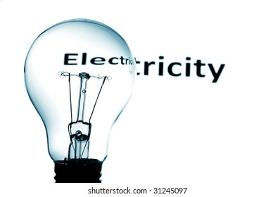 bulb showing concept for electric power and electricity