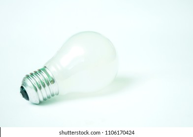 The bulb and the transistors isolated on a white background