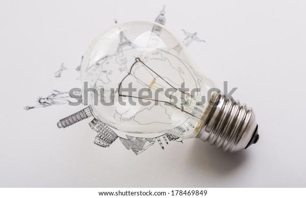 Bulb of World travel (Japan,France,Italy ,New York,India,egypt)