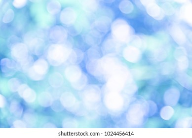 Bule bokeh background from nature, blue bokeh abstract