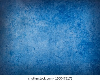 Bule vintage and antique background frame art concept. Wall texture