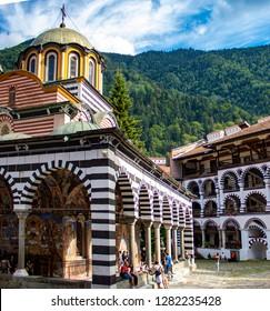 BULGARIA - AUGUST 19th, 2018: Monastery of Saint Ivan of Rila, Monastery, Bulgaria