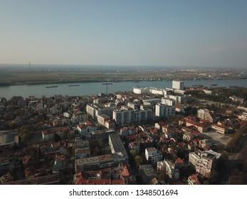 Bulgaria cityscape drone  - Shutterstock ID 1348501694