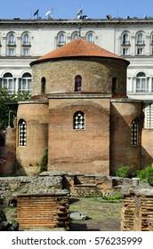 Bulgaria, Sofia, rotunda of Saint George aka Sveti Georgi situated in courtyard of presidents office building