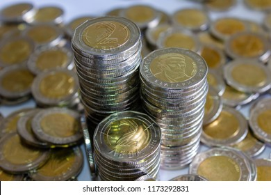 Bulgarian 2 leva coins almost 200 Euro in total