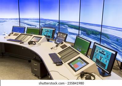 """Bulgarian Air Traffic Services Authority"" (BULATSA) control center."