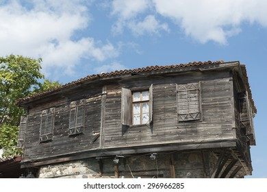 Bulgarian ancient old type of house in the town of Sozopol, Bulgaria.