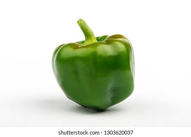Bulgarian green pepper closeup. Bulgarian pepper. green pepper