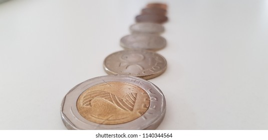 Bulgarian Leva Coins in a Row
