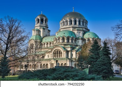 Bulgarian Orthodox cathedral dedicated to Saint Alexander Nevsky, in Sofia