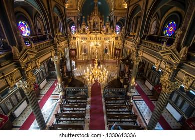 Bulgarian St. Stephen Church/ Bulgarian Iron Church is a Bulgarian Orthodox church in Balat, Istanbul, Turkey,May 2018