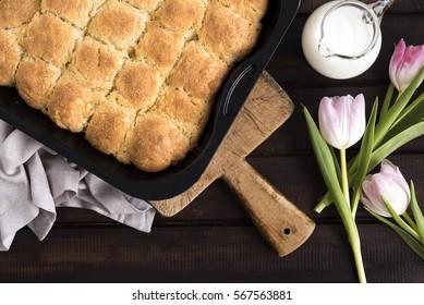 Bulgarian style bread loafs
