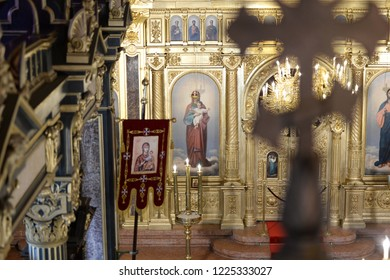 Bulgarian Sveti Stefan Church also known as Bulgarian St Stephen Church is a Bulgarian Orthodox church made of prefabricated cast iron elements in neo Gothic style in Balat, Istanbul, Turkey, 2018
