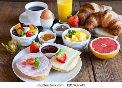 bulging breakfast table