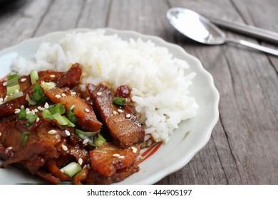 Bulgogi fried beef korean food