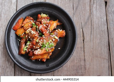 Bulgogi fried beef korean food