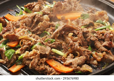 bulgogi, meat dish, korean food