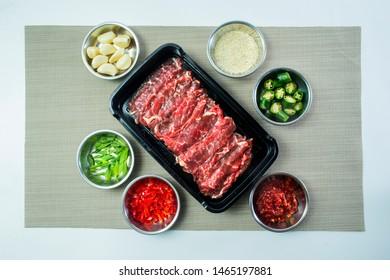 Bulgogi - Slices of marinated premium beef wagyu