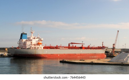 bulk carrier in a harbour in italy
