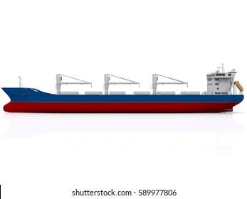 Bulk Carrier isolated 3d rendering
