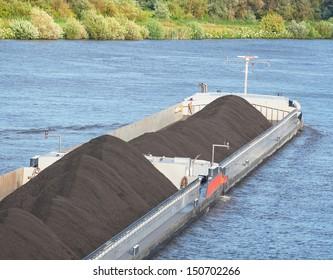 Bulk carrier transporting coal