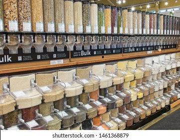 Bulk food dispensers of healthy nuts, grains, pasta, spices and much more.
