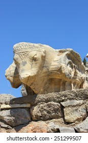 Bull column sculpture at Ephesus, Turkey