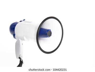Bull horn megaphone isolated on white