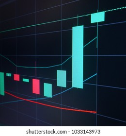 Bull pump candles - Stock market graph analysis on the screen
