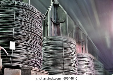 bull rod, coil rod, rolled wire production