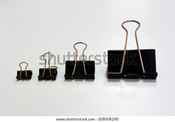 Bulldog clip in many size.From small to large.