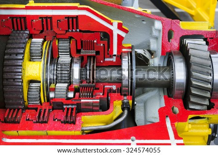 Bulldozer Drive Gear Mechanism Cross Section Stock Photo Edit Now