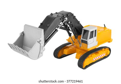 Bulldozer isolated on white background. Model.
