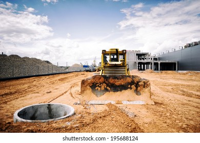 bulldozer on a construction site