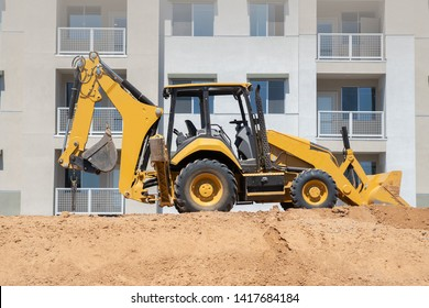 Bulldozer on new construction site