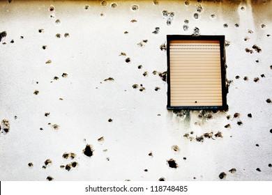 Bullet Holes Wall Images, Stock Photos & Vectors | Shutterstock