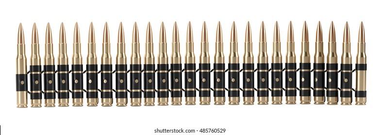 Bullet Shells Belt - 3D illustration