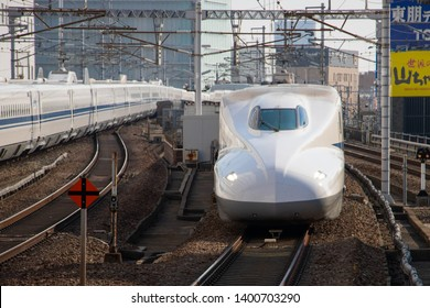 "Bullet train which is called ""Shinkansen"", at Nagoya Station, Nagoya, Aichi, Japan, Jan 2, 2017"