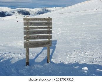 Bulletin board at Snowed Carpathian mountains